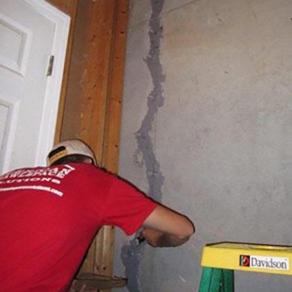 Basement Crack Repair   American Crawlspace Solutions