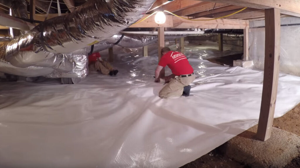 timelapse video of crawlspace encapsulation product by American Crawlspace Solutions