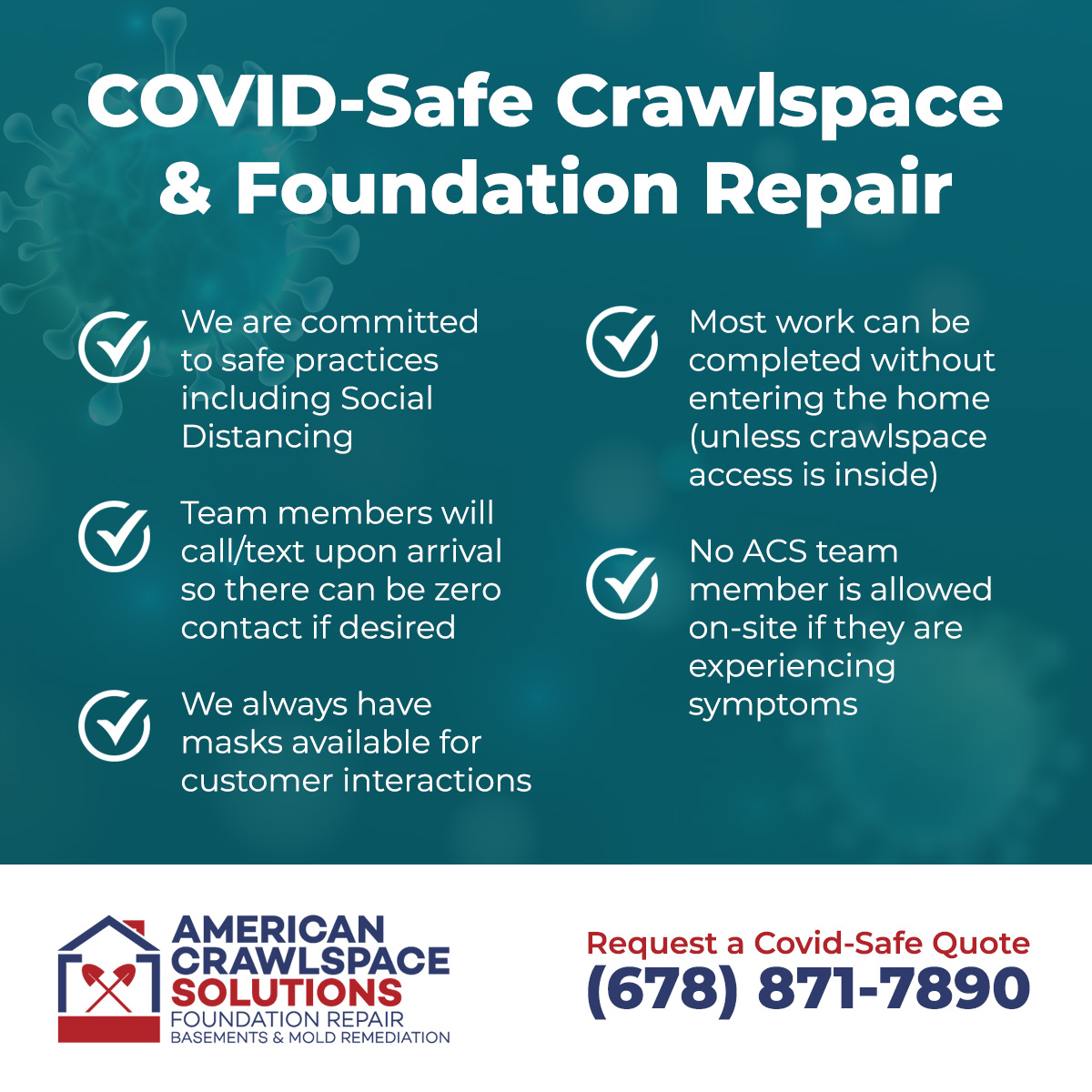 covid safe foundation and basement repair services
